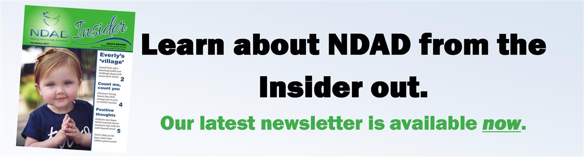 Click this banner to read NDAD's Insider newsletter. It's available now