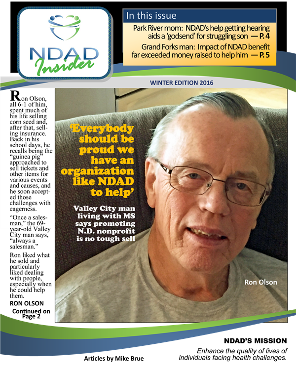 NDAD Insider Winter 2016 cover
