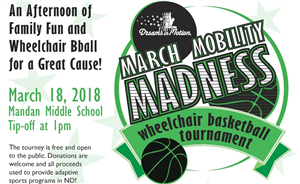 NDAD a sponsor of March Mobility Madness in Mandan