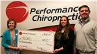 NDAD receives $500 from Performance Chiropractic