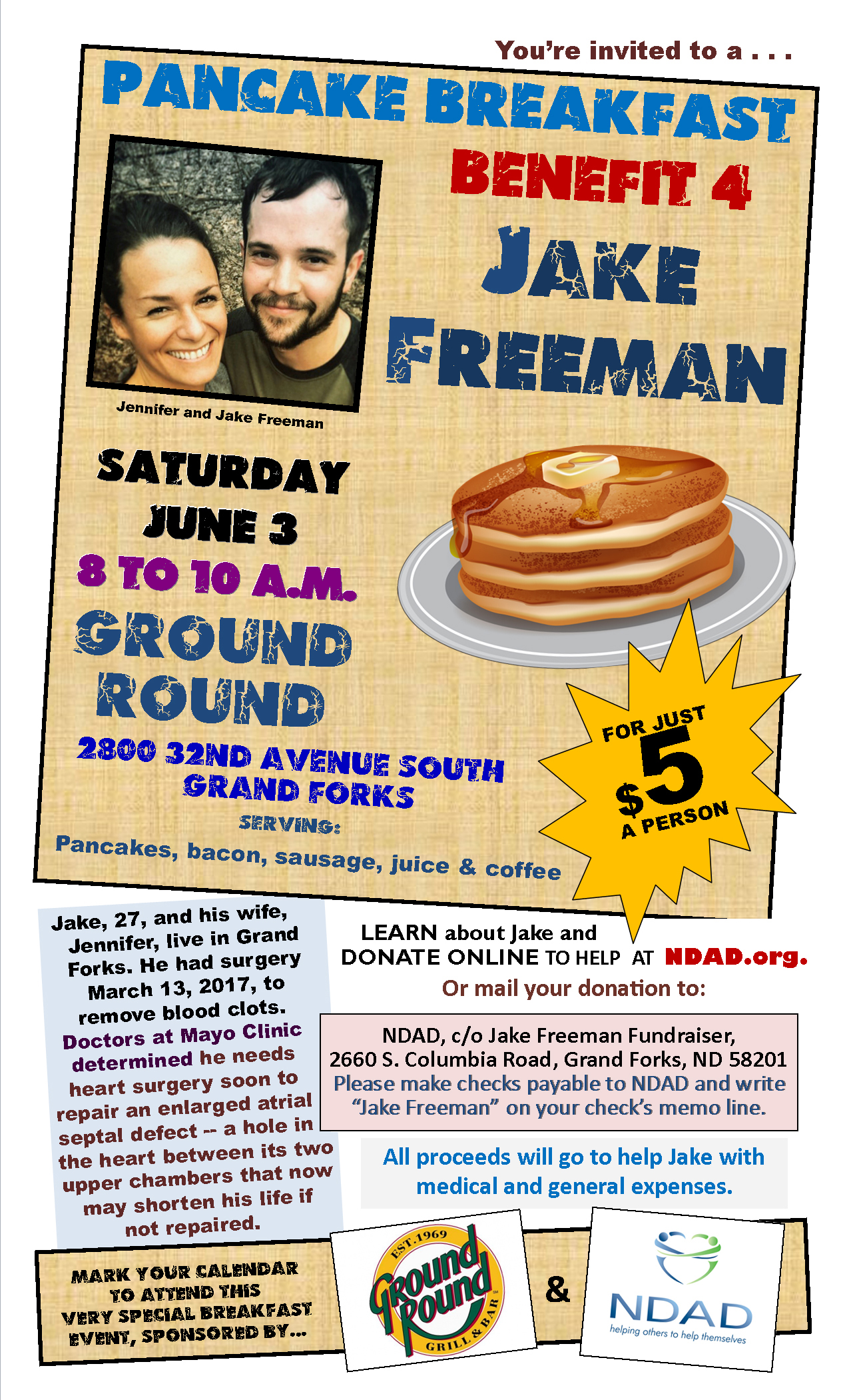 Community Fundraiser:Jake Freeman
